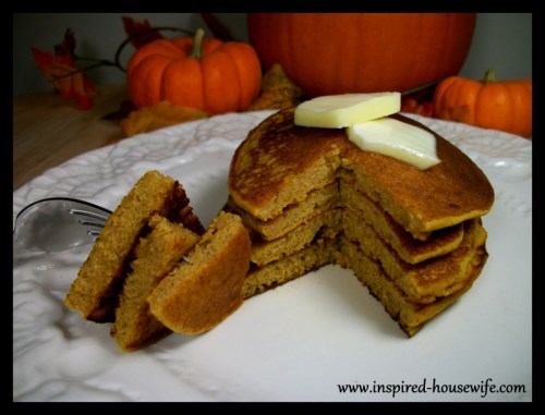 Inspired-Housewife: The BEST Gluten Free Holiday Pumpkin Pancakes - perfect for Thanksgiving or Christmas breakfast- A MUST TRY!!