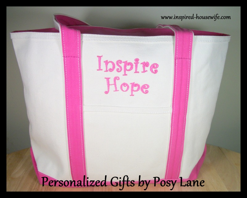 Inspired-Housewife: Posy Lane - Embroidered Tote Bag Review