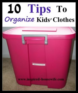 Organzing Kids' Clothes