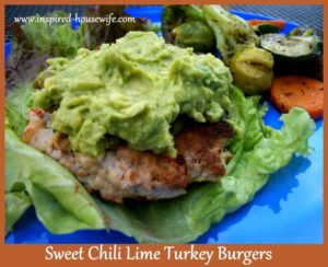 Sweet Chili Lime Turkey Burger