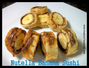 www.Inspired-Housewife.com, Nutella Banana Sushi