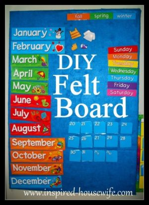 www.Inspired-Housewife.com, DIY Felt Board