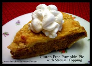 Gluten Free Pumpkin Pie with Streusel Topping