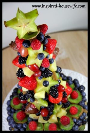 DIY Edible Fruit Holiday Birthday Cake Arrangement