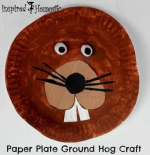 Paper Plate Ground Hog Craft