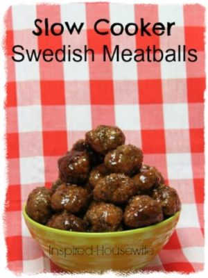 Super-Easy Crock-Pot Super Bowl Swedish Meatballs