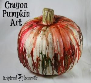 Crayon Pumpkin Art
