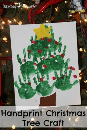 Twelve Days of Christmas - Handprint Christmas Tree