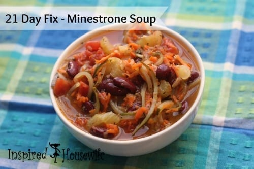 21 Day Fix - Minestrone Soup by Inspired Housewife #glutenfree #21dayfix #soup