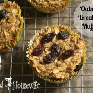 Oatmeal Breakfast Muffins by Inspired Housewife