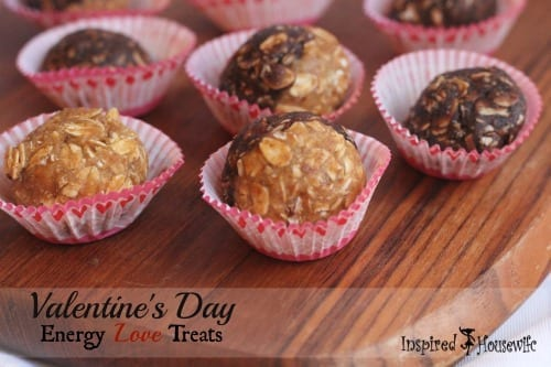 A healthy, no bake Valentine's Day Energy Ball Treats that are packed with whole foods, gluten free and perfect as a snack, breakfast or as dessert.